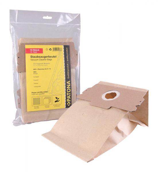 10 Staubsaugerbeutel Papier für AEG Elektrolux Gr. 11/13